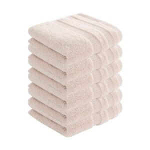 6pcs Cotton Bath Soft Hand Towels Super Solid Absorbent Home For Pool Spa Utopia