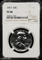 1957 Franklin Silver Half Dollar ~ NGC PF68 ~ PROOF! BEST OF THE BEST! MQ