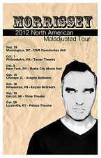 Morrissey  * Maladjusted Tour* North Amrica Tour Poster 2012