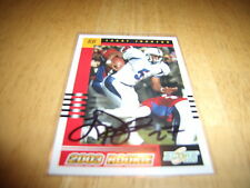 LARRY JOHNSON AUTOGRAPHED ROOKIE CARD 2003 SCORE #283 PENN STATE NITTANY LIONS