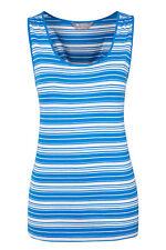 Bnwt Mountain Warehouse Limsole Women's Singlet Top In Blue Stripe - UK 18 (B52)