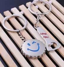 Couple Keychain Love Gift For Her His Lover Keyring Wife Pendant Keyfob Present