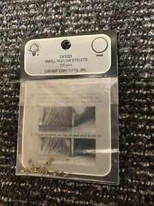 Cir-Kit #CK1023 1:12 Scale Miniature Dollhouse 20 L-Pack Small Hollow Eyelets