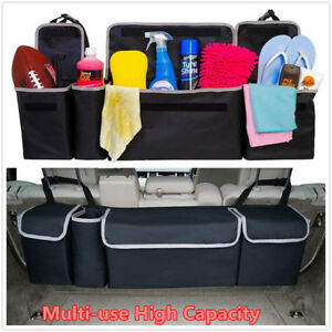Multi-use Trunk Cargo Organizer Folding Backseat Storage Bag Bin For Car Truck