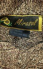 BEAUTIFUL Mirasol Poncho Cape Gold & Black Metallic w/ Tassles~Nice Evening Wear