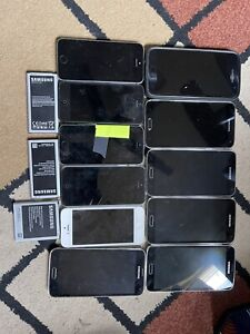 Lot of old used cell phones 11 phones total Samsung S7 Verizon 5xS5 5x iPhone 5s