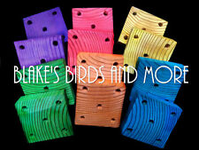 2 Jumbo 3-1/4'' X 3-1/4'' Wood Toy Bases- Parrot-Bird Toy Parts- Great Colors