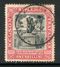 Barbados 1906 Nelson Monument 1s Black & Rose SG151 Used