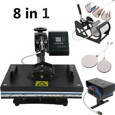 8 in 1 Transfer Sublimation T-Shirt Mug Hat Plate Cap Heat Press Machine