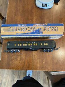 Vintage AMERICAN FLYER #652 PULLMAN PASSENGER CAR Train Trains 652 Black + box