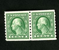 US Stamps # 412 XF Fresh Pair OG NH Catalog Value $130.00