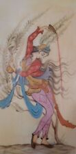 Persia Persian Oil Painting of a Dancing Lady Pouring Wine Signed ca. 20th c.