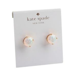 Kate Spade New York Mini Glitter Stud Earrings Round Opal