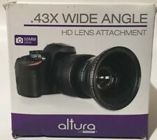 55MM 0.43X HD Wide Angle Lens Attachment Altura Super Macro