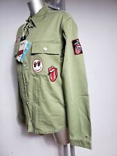 TOMMY HILFIGER MILITARY MENS SHIRT S KHAKI ROLLING STONES ARMY GREEN JACKET