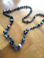 Vintage French glass necklace 1920s