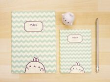 MOLANG cute Pattern Memo Notebook Note book Notepad 2 Size SET - Zigzag