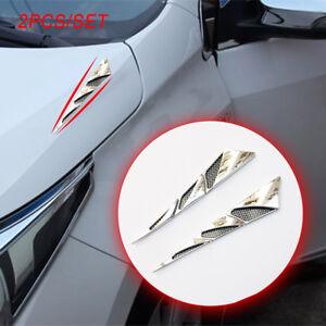2PCS Car Front Fenders Flap Side Air Vent Cover Trim Frame Universal Accessories