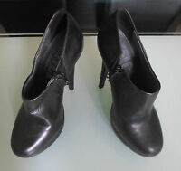 Office London Women Size 5 Black Leather Heels Platform Shoes