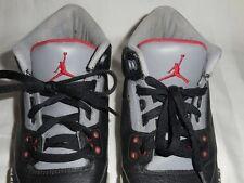 SHOES Boy's Unisex NIKE Air Jordan Retro 3 III Black Cement Size 6.5y