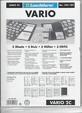New Vario Stock Sheets 2C One-Sided Horizontal Pockets Clear Pkg. 5