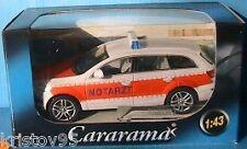 VEHICULE MINIATURE AUDI Q7 NOTARZT CARARAMA 1/43 GERMAN