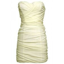 BNWT Rare Cream Mesh Tube Bodycon Special Occasion Holiday Dress, Size 14