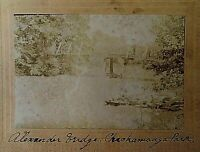 "ORIGINAL CIVIL WAR ""ALEXANDER BRIDGE"" BATTLE of CHICAMAUGA CABINET PHOTO c1898"