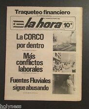 VINTAGE NEWSPAPER / LA HORA / SAN JUAN PUERTO RICO / MAY 30 - JUNE 5 1974