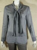 COP COPINE Taille 42 Superbe chemise manches longues grise femme ENTELLE blouse