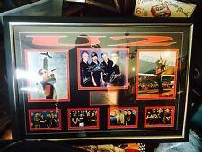 U2 Hand Signed Autographs With COA Framed Bono And Group