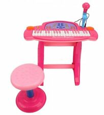 Kids Childrens 36 Key Electronic Keyboard Piano Mic Multi Musical Toy Records