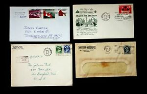 CANADA BATTLE OF PLAINS OF ABRAHAM FDC+ 3 COVERS W/ 7v QEII, FLAG, FLOWERS TO US