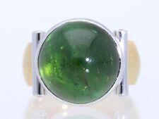 Wert: 2.800,- EUR Ring Brillanten Turmalin 750 Gold Deutschland Handarbeit