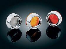 Kuryakyn 2107 Deep-Dish Bezels w/ Smoke Lens Harley 2000-2015