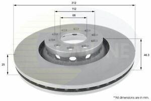 FOR AUDI A4 1.8 L COMLINE FRONT BRAKE DISCS SET BRAKING DISCS PAIR ADC1431V