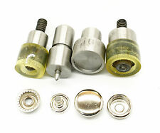 4-Part Press Stud Setting Tool Die Set Large Ring Blue Hand Machine Riveter 15mm