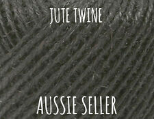 10m Black Jute Twine Wedding Outdoor Decor Sisal Twisted Cord Burlap Hessian