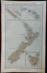 Pacific Islands New Zealand Hawaii Tasmania New Caledonia 1936 large Italian map