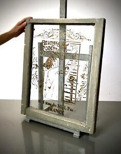 VINTAGE FRENCH WINDOW, PARISIAN CAFE SOCIETY ART NOUVEAU GRAPHICS. ABSINTHE.
