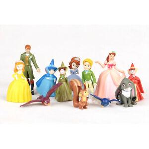 1 Set 12 Disney Princess Sofia the First Figures Dolls Cake Ornament Toy 3-6cm