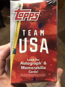2020 TOPPS Team USA Olympic & Paralympic Blaster Box Sealed Ships 🚢 Same Day 💥