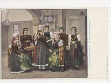 Badische Volkstrachten Elzthaeler Aus Niederwinden U/B Postcard Germany 395a