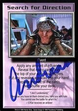 BABYLON 5 CCG Card Andreas Katsulas (1946-2006) Search for Direction AUTOGRAPHED