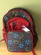 New Gymboree Sport Lunchbox Backpack Set Boys Soccer Baseball Football