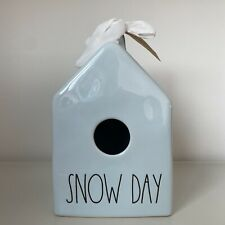 Rae Dunn Snow Day Blue Glossy Square Birdhouse - Christmas 2020 Online Exclusive