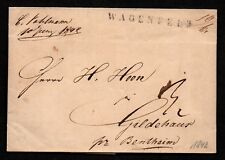 $German Stampless Cover, Wagenfeld (1842) RARE