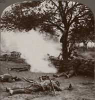 The Price Of Victory The Dead & The Dying After An Early Morning Raid Stereoview