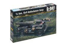 Italeri 326 - 1/35 WWII 1/4 Tone 4X4 Ambulance Jeep - New