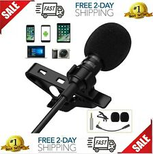 Professional Lavalier Lapel Microphone Clip-on Omnidirectional Condenser Mic